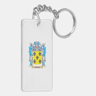 Escudo de armas de Gomes - escudo de la familia Llavero Rectangular Acrílico A Doble Cara