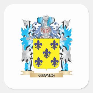 Escudo de armas de Gomes - escudo de la familia Pegatina Cuadrada