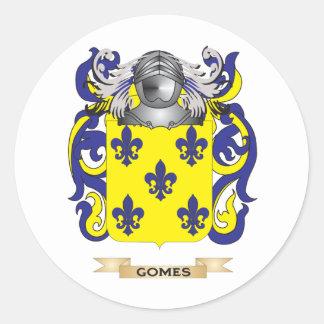 Escudo de armas de Gomes (escudo de la familia) Pegatina Redonda