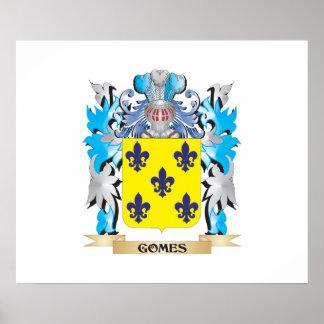 Escudo de armas de Gomes - escudo de la familia Póster