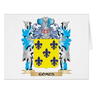 Escudo de armas de Gomes - escudo de la familia Tarjeta De Felicitación Grande