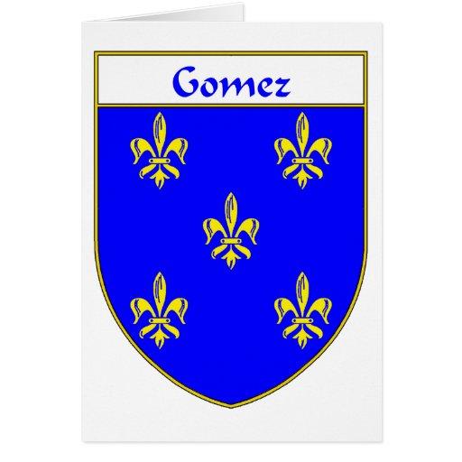 Escudo de armas de Gómez/escudo de la familia Tarjeta