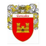 Escudo de armas de Gonzales (cubierto) Postal