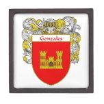 Escudo de armas de Gonzales/escudo de la familia Cajas De Regalo De Calidad
