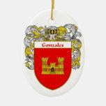 Escudo de armas de Gonzales/escudo de la familia Adorno De Navidad