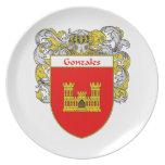 Escudo de armas de Gonzales/escudo de la familia Platos De Comidas