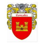 Escudo de armas de Gonzalez (cubierto) Postal