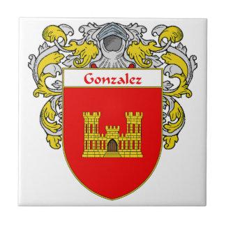Escudo de armas de Gonzalez/escudo de la familia Azulejo Cuadrado Pequeño