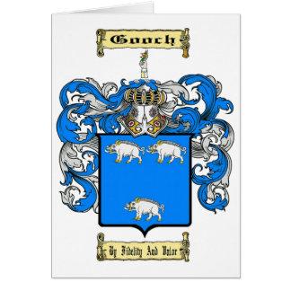 Escudo de armas de Gooch Tarjeta Pequeña