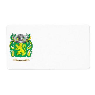 Escudo de armas de Goodenough (escudo de la famili Etiquetas De Envío