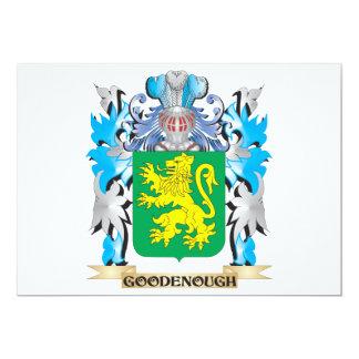 "Escudo de armas de Goodenough - escudo de la Invitación 5"" X 7"""