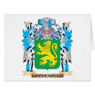 Escudo de armas de Goodenough - escudo de la Tarjeta De Felicitación Grande
