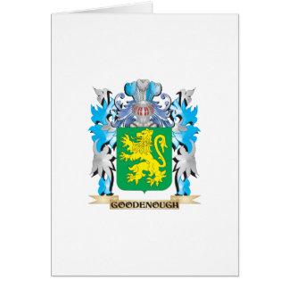 Escudo de armas de Goodenough - escudo de la Tarjeta De Felicitación