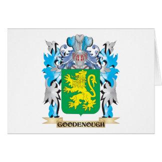 Escudo de armas de Goodenough - escudo de la Tarjeta Pequeña