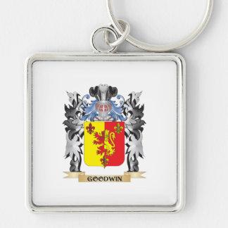 Escudo de armas de Goodwin - escudo de la familia Llavero Cuadrado Plateado