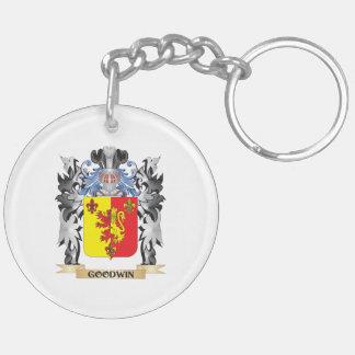 Escudo de armas de Goodwin - escudo de la familia Llavero Redondo Acrílico A Doble Cara