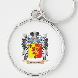 Escudo de armas de Goodwin - escudo de la familia Llavero Redondo Plateado