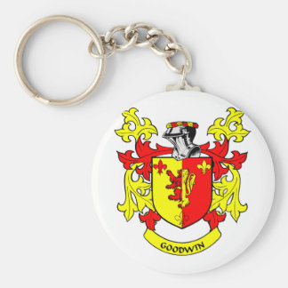 Escudo de armas de GOODWIN Llavero Redondo Tipo Pin