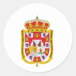Escudo de armas de Granada (España) Pegatina Redonda