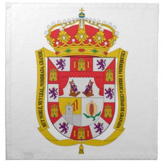 Escudo de armas de Granada (España) Servilleta Imprimida