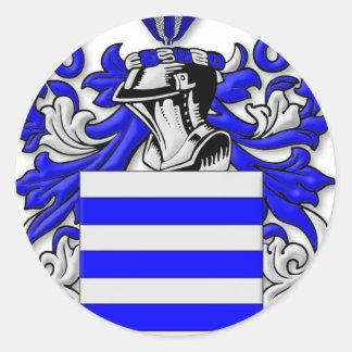 Escudo de armas de Grasso Pegatina Redonda