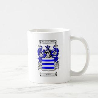 Escudo de armas de Grasso Taza Básica Blanca