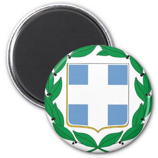 Escudo de armas de Grecia Iman Para Frigorífico