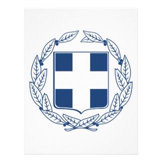 Escudo de armas de Grecia Plantilla De Membrete