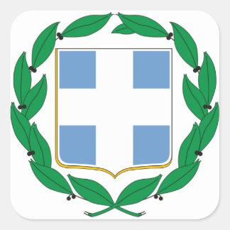 Escudo de armas de Grecia Pegatina Cuadrada