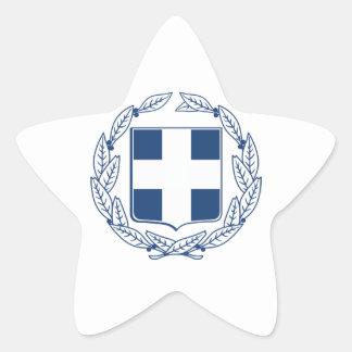 Escudo de armas de Grecia Pegatina En Forma De Estrella