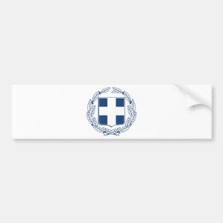 Escudo de armas de Grecia Pegatina Para Auto