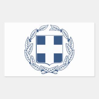 Escudo de armas de Grecia Pegatina Rectangular