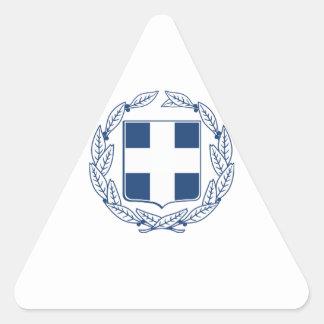 Escudo de armas de Grecia Pegatina Triangular