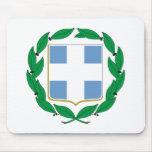 Escudo de armas de Grecia Tapete De Ratones
