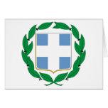 Escudo de armas de Grecia Tarjeton