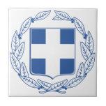 Escudo de armas de Grecia Teja Ceramica