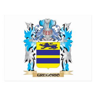 Escudo de armas de Gregorio - escudo de la familia Postal