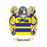 Escudo de armas de Gregory (escudo de la familia) Tarjeta Postal