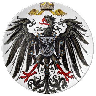 Escudo de armas de Griffon Platos De Cerámica