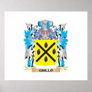 Escudo de armas de Grillo - escudo de la familia Poster