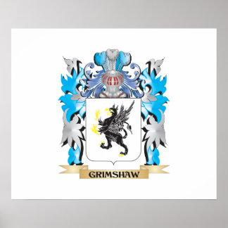 Escudo de armas de Grimshaw - escudo de la familia Poster