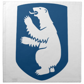 Escudo de armas de Groenlandia Servilleta