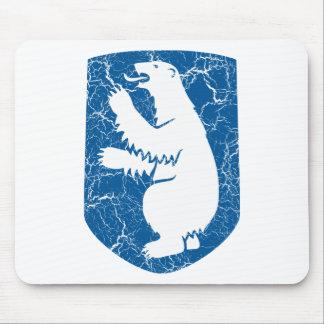 Escudo de armas de Groenlandia Tapetes De Ratón