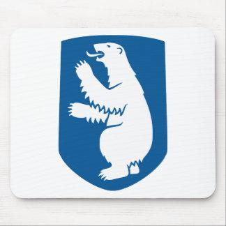 Escudo de armas de Groenlandia Alfombrillas De Ratón
