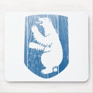 Escudo de armas de Groenlandia Tapetes De Raton