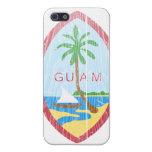 Escudo de armas de Guam iPhone 5 Protectores