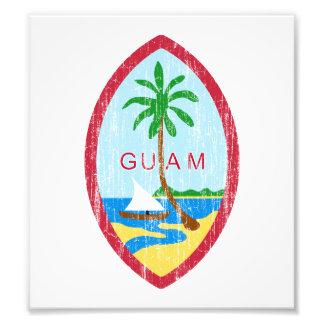 Escudo de armas de Guam Fotografia