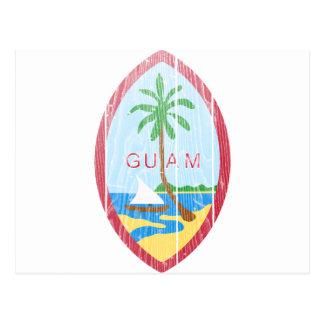 Escudo de armas de Guam Postales