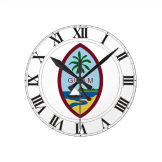 Escudo de armas de Guam Reloj De Pared