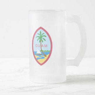 Escudo de armas de Guam Taza De Cristal
